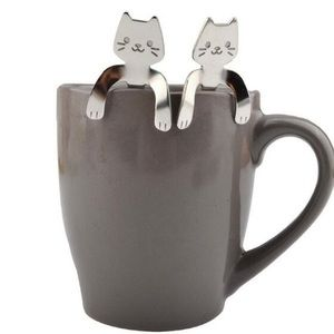 Cat Spoons 3 Piece Stainless Steel Set